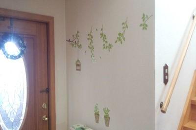 玄関の壁を工夫して明るい玄関に